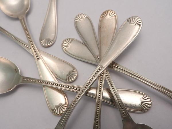 8-Cuillres-Dessert-Argent-Massif-Minerve-163-gr-Cuillres-Gateaux-273196192998-5