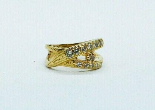 BAGUE-OR-750-Or-jaune18K-19-Diamants-72-gr-Poinon-tete-daigle-283598905628-4