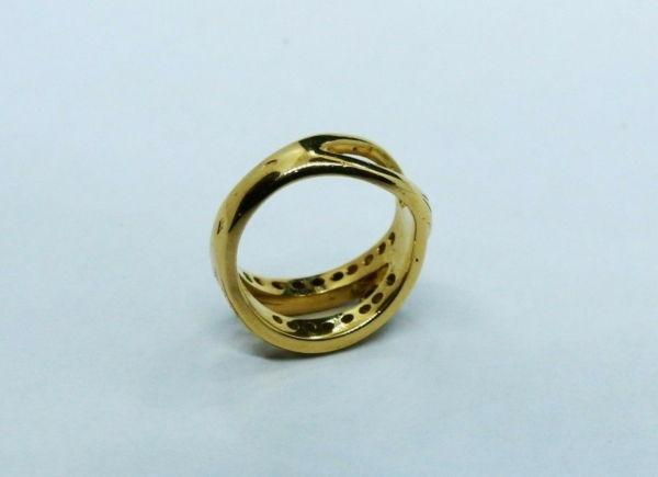 BAGUE-OR-750-Or-jaune18K-19-Diamants-72-gr-Poinon-tete-daigle-283598905628-5