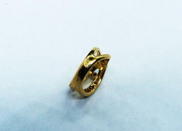 BAGUE-OR-750-Or-jaune18K-19-Diamants-72-gr-Poinon-tete-daigle-283598905628-9