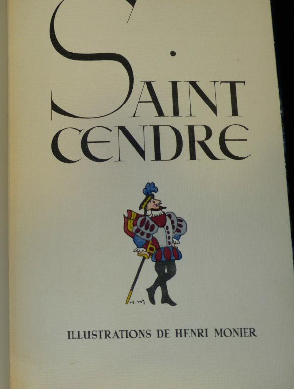 Maurice-MAINDRON-SAINT-CENDRE-Illustr-Henri-MONIER-Edition-du-Blier-1943-283569356208-2