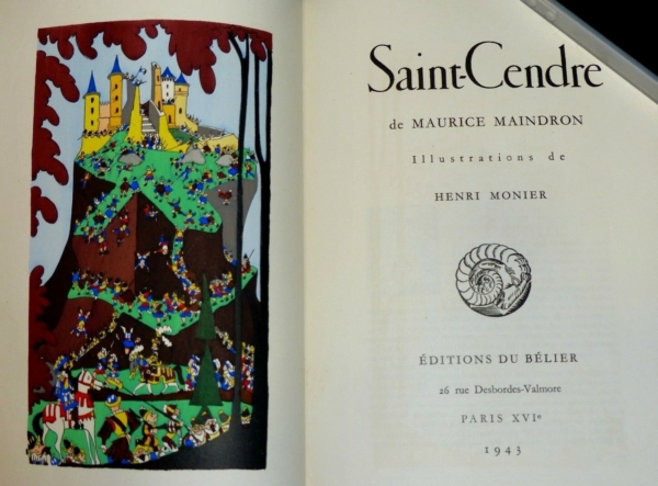 Maurice-MAINDRON-SAINT-CENDRE-Illustr-Henri-MONIER-Edition-du-Blier-1943-283569356208