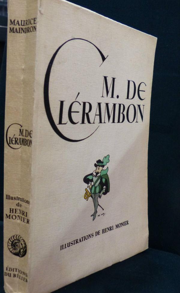 Maurice-Maindron-M-DE-CLERAMBON-Illustrateur-Henri-MONIER-Edition-du-Blier-282944471949-2