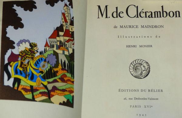 Maurice-Maindron-M-DE-CLERAMBON-Illustrateur-Henri-MONIER-Edition-du-Blier-282944471949-4